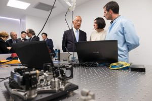 Prof. Marcelo Rebelo de Sousa, the President of the Portuguese Republic, visits Sphere Ultrafast Photonics